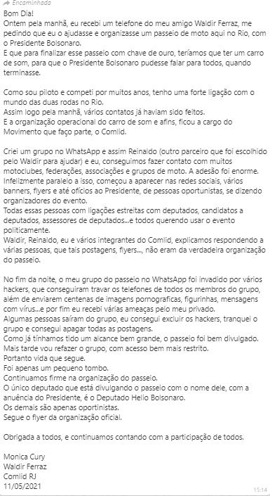 ofício COMLID-RJ